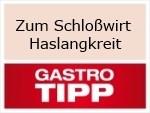 Logo Zum Schloßwirt Haslangkreit Bayrisches Wirtshaus mit Tradition und Biergarten