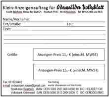 Odenwälder Volksblatt Verlagsdruckerei