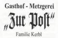 Logo Gasthof - Metzgerei zur Post  Fam. Kerbl