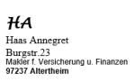 Logo Annegret Haas  Versicherungsmakler