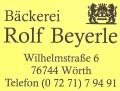 Logo Bäckerei Beyerle