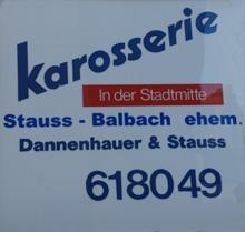 Karosserie Stauss - Balbach