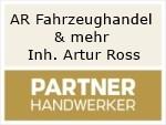 Logo AR Fahrzeughandel & mehr  Inh. Artur Ross