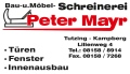 Logo Schreinerei - Innenausbau  Peter Mayr