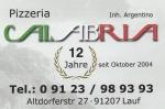 Logo Pizzeria Calabria