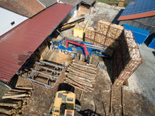 Brennholz Plank