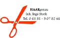 Logo HAAR genau  Inh. Inge Stork