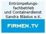 Logo Entrümpelungsfachbetrieb und Containerdienst  Sandra Bläsius e.K.