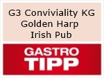 Logo G3 Conviviality UG Golden Harp Irish Pub