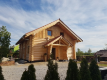 Blockhausbau zum Wolperdinger