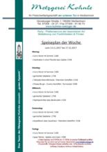 Kohnle Metzgerei - Partyservice
