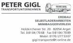 Logo Peter Gigl Transportunternehmen
