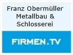 Logo Franz Obermüller  Metallbau & Schlosserei Meisterbetrieb