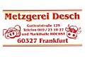 Logo Metzgerei Desch