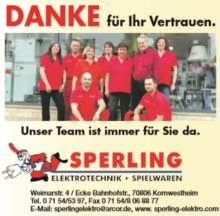 Elektrotechnik & Spielwaren  Klaus Sperling