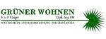 Logo Grüner Wohnen  E. & P. Geiger