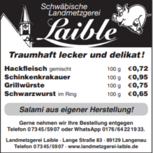 Schwäbische Landmetzgerei Laible