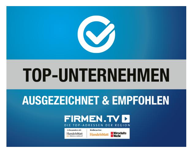 Top-Unternehmen ausgezeichnet & empfohlen von Firmen.TV