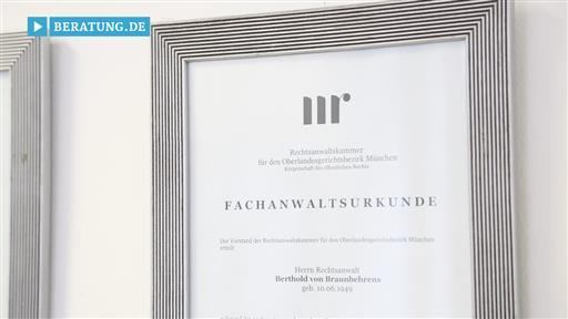 Filmreportage zu Rechtsanwalt Berthold von Braunbehrens