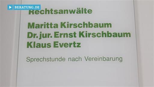 Videovorschau Maritta Kirschbaum (bis Juni 2015) Klaus Evertz  Rechtsanwälte
