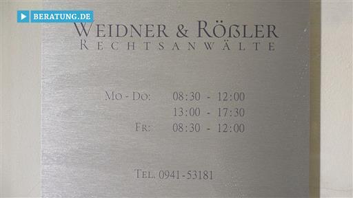 Videovorschau Weidner & Rößler Rechtsanwälte