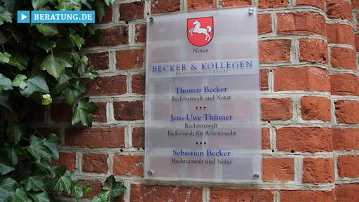 Videovorschau Becker & Kollegen  Rechtsanwälte und Notar