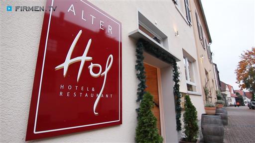 """Videovorschau Hotel & Restaurant  """"Alter Hof"""""""