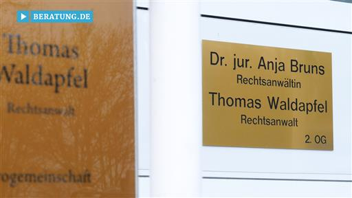 Filmreportage zu Thomas Waldapfel Rechtsanwalt